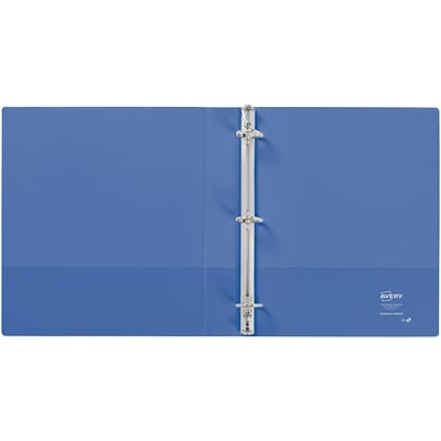 Avery Durable View Binder, 1 Slant Rings, 220 Sheet Capacity, DuraHinge, Periwinkle (34152)