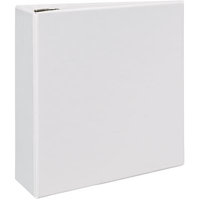 Avery® Durable View Binder with 4 Two Booster EZD™ Rings; White