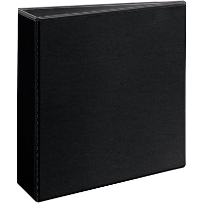 Avery Durable View Binder, 3 Slant Rings, 600 Sheet Capacity, DuraHinge, Black (17041)