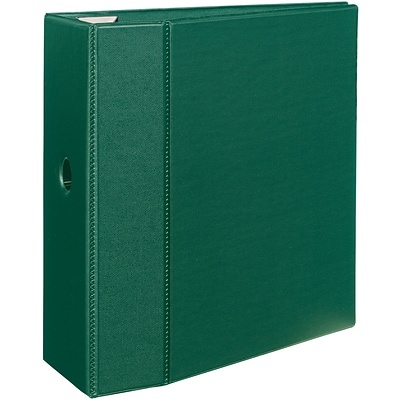 Avery Heavy-Duty Binder, 5 One Touch Rings, 1,050 Sheet Capacity, DuraHinge, Green (79786)