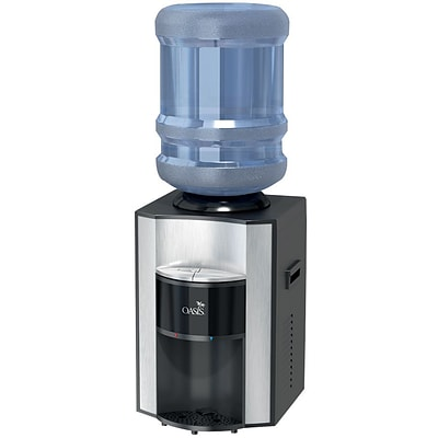 Oasis® Onyx Counter Top Hot N Cold Top Load Commercial Grade Bottle Water Dispenser, 12 1/2W x 14D x 17 7/8H