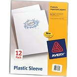 Avery Clear Thumb-Notched Plastic Sleeves, Letter Size, 12 Pack