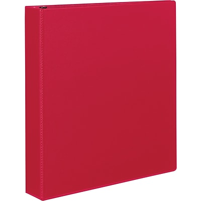 Avery® Durable Binder With Slant Ring, 1-1/2,  Red