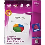 Avery® Heavyweight Polypropylene Non-Glare Sheet Protectors, 100/Box