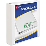 Avery TouchGuard Protection View Binder with 1-1/2 Slant Rings, White (17142)