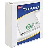 Avery TouchGuard Protection View Binder with 3 Slant Rings, White (17144)