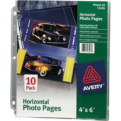 Storage Sleeves For 6x4 Horizontal Photos, 4 Per Page