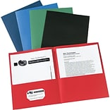 Avery(R) Two-Pocket Folders 47993, Assorted, Box of 25