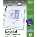 Avery® 75539 Economy Recycled Sheet Protector, Clear