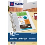 Avery® 5-1/2 x 8-1/2 Business Card Pages