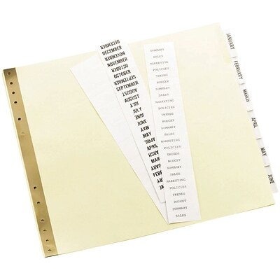 Avery® 9-1/2 x 11 Data Binder Insertable Tab Dividers, 6-Tab, 1 Set/Pack