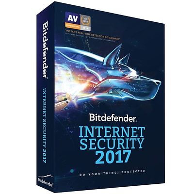 Bitdefender Internet Security 2017 5 Users 1 Year for Windows (1-5 Users) [Download]