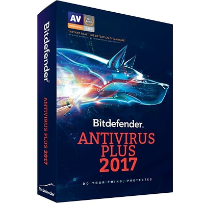 Bitdefender Antivirus Plus 2017 1 Users 1 Year for Windows (1 User) [Download]