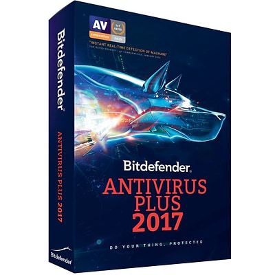 Bitdefender Antivirus Plus 2017 1 User 3 Years for Windows (1 User) [Download]