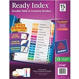 Avery® 15-Tab Ready Index® Multicolor Table of Contents Dividers, 1 Set/Pack