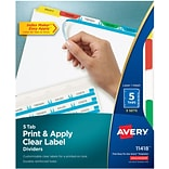 Avery Index Maker Clear Label Tab Dividers,...