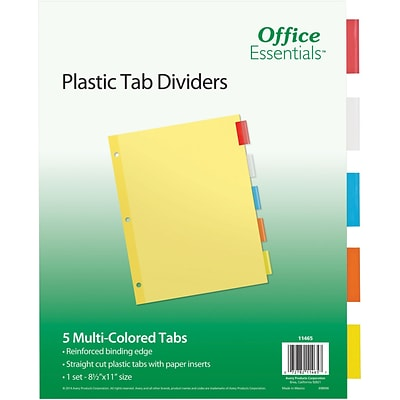 Avery® Office Essentials Insertable Dividers, Multicolor, 5-Tab