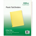 Office Essentials Insertable Tab Dividers, Buff Paper, 8 Clear Tabs, 1 Set (11468)