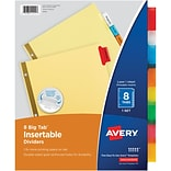 Avery Big Tab Insertable Dividers, Buff Paper, 8 Multicolor Tabs, Gold-Reinforced Edge, 1 Set (11111