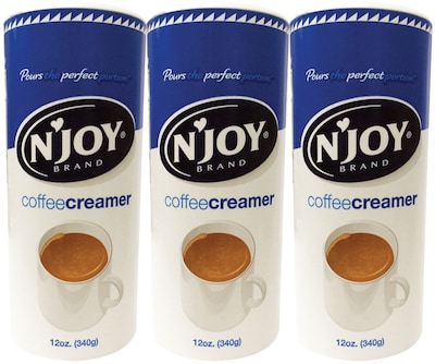 N'Joy Non-Dairy Powder Coffee Creamer Value Pack, 12 oz., 3/Pack (51240/94253)