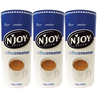 NJoy Non-Dairy Powder Coffee Creamer Value Pack, 12 oz., 3/Pack (51240/94253)