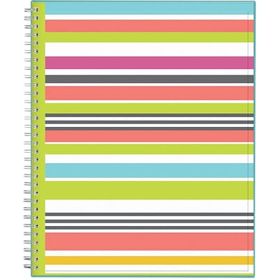 2017-2018 Blue Sky, Academic Todays Teacher, Weekly/Monthly Planner, Stripes, 8.5 x 11