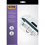 Fellowes® Laminator Cleaning Sheet; Letter Size, 10/Pack (5320603)