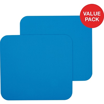 Staples Blue Mouse Pad, 2 Count Value Pack
