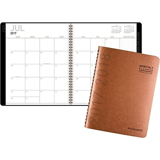 2017-2018 AT-A-GLANCE® Academic Contemporary Monthly Planner, 12 Months, Copper, 9 x 11