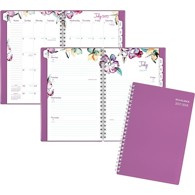 2017-2018 AT-A-GLANCE® 4 7/8 x 8 June Academic Weekly/Monthly Planner, 12 Months, Purple (1012-200A-59-18)