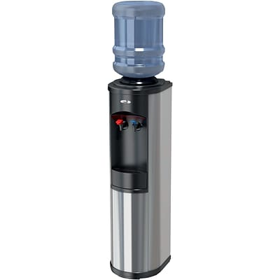 Oasis® Artesian Stainless Hot N Cold Top Load Commercial Grade Bottle Water Dispenser, 12 1/4W x 13D x 41H