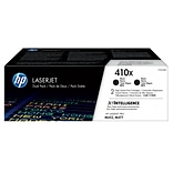 HP 410X Black Toner Cartridges (CF410XD), High Yield, 2/Pack