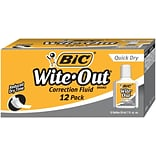 Wite-Out® Correction Fluid; Quick Dry, 12 Pk