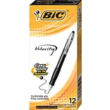BIC Velocity Retractable Ballpoint Pens, Medium Point (1.0mm), Black, Dozen (VLG11BK)