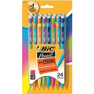 BIC Xtra Strong Mechanical Pencil, 0.9mm, No. 2 Lead, 2 Dozen (MPLWP241-BLK)
