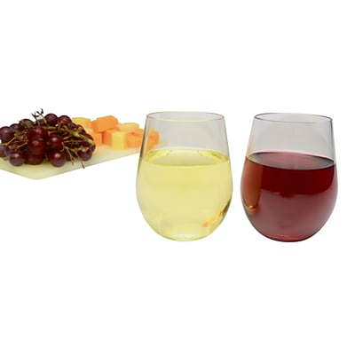 Party Expressions 12 Oz. Stemless Plastic Wine Glasses, 6/CT
