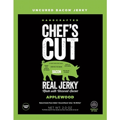 Chefs Cut Applewood Bacon Jerky, 2.5 Oz., Each
