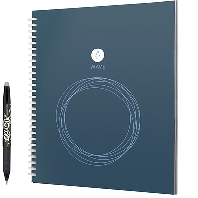 Rocketbook Wave 1 Subject Notebook, Unruled, 9.5 x 8.5, Blue