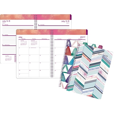 2017-2018 Staples® Academic Weekly/Monthly Large 14 Months Planner, 8 x 11