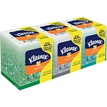 Kleenex® Boutique™ Anti-Viral Cube Box Facial Tissue, 3-Ply, White, 68 Sheets/Box