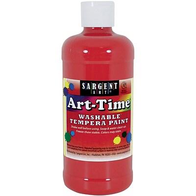 Sargent Art® Art-Time Washable Tempera Paint, 16oz., Red