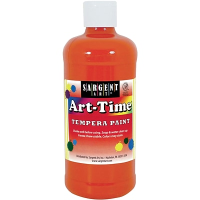 Sargent Art® Art-Time® 16 oz. Liquid Tempera Paints, Orange