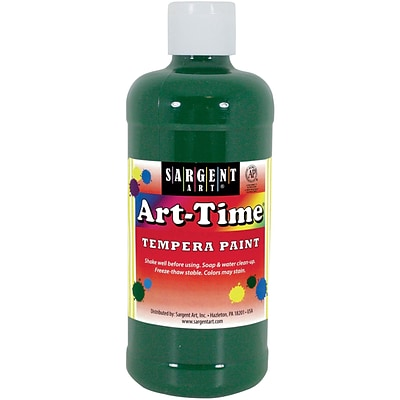 Sargent Art Art-Time Non-Toxic Tempera Paint, 16 oz., Green (SAR226466)