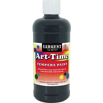 Sargent Art® Art-Time® 16 oz. Liquid Tempera Paints, Black