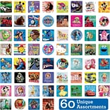SmileMakers® Licensed Character Sticker Sampler, Assorted Designs, 2-1/2 Stickers, 5,950  Total Sti