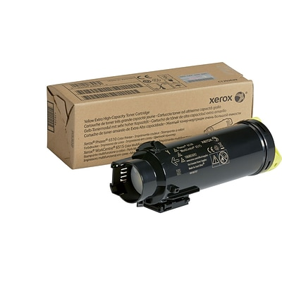Xerox Yellow Extra High Capacity Toner Cartridge, 106R03692, for use in Phaser 6510/WorkCentre 6515, 4300 pages