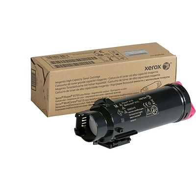 Xerox Magenta High Capacity Toner Cartridge, 106R03478, for use in Phaser 6510/WorkCentre 6515, 2400 pages