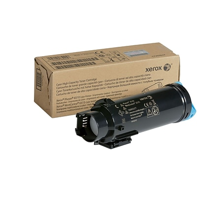 Xerox Cyan High Capacity Toner Cartridge, 106R03477, for use in Phaser 6510/WorkCentre 6515, 2400 pages