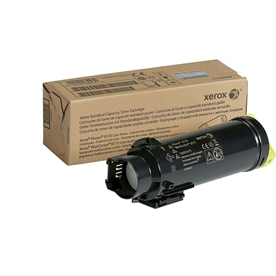 Xerox Yellow Standard Capacity Toner Cartridge, 106R03475, for use in Phaser 6510/WorkCentre 6515, 1000 pages