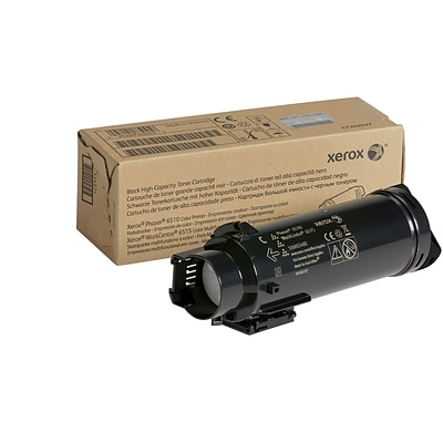 Xerox Black High Capacity Toner Cartridge, 106R03480, for use in Phaser 6510/WorkCentre 6515, 5500 pages
